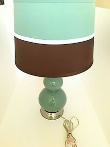 Double Gourd Glass Table Lamp White
