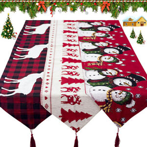 Christmas-Table-Runner-Cover-Cloth-Tablecloth-Decorations-Cotton-Linen-Dining
