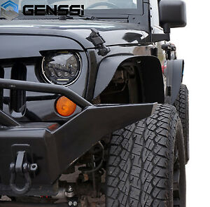 Flat Fender Jeep >> 07 17 For Jeep Wrangler Jk Unlimited Flat Textured Style Fender