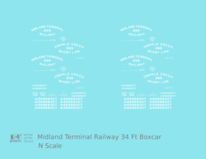 K4 N Decals Midland Terminal Railway 34 Ft Boxcar White Colorado