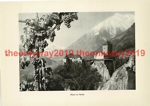 Merano-Meran-Tyrol-Italy-Book-Illustration-Print-1935