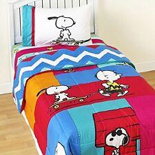 "Peanuts Snoopy cartoon ""Just Be"" Reversible twin sheet set bedding sheets BNIP"