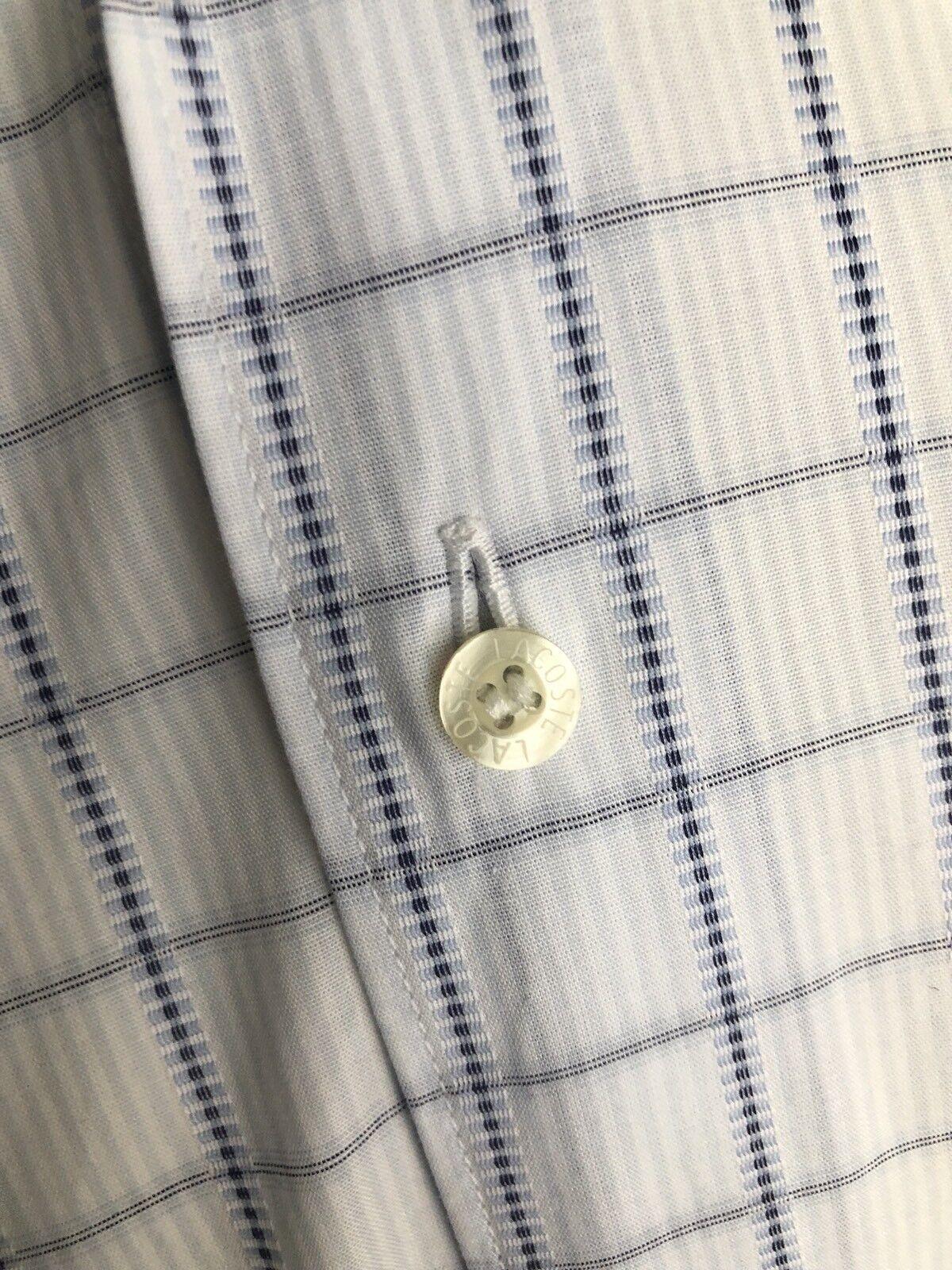 Lacoste 16 Bleu Blancs Chemise À 16 Coton Homme Carreaux En 5 Wcq6PrqAn