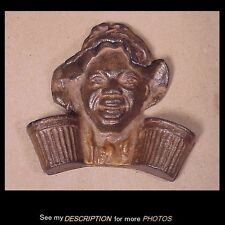 Antique Cast Iron Wall Match Safe / Holder Black Americana Boy Johnny Griffin