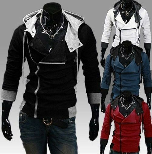 Unisex Casual Slim Fit Stylish Jacket Ziper Hoodie College Blazer New USA Seller