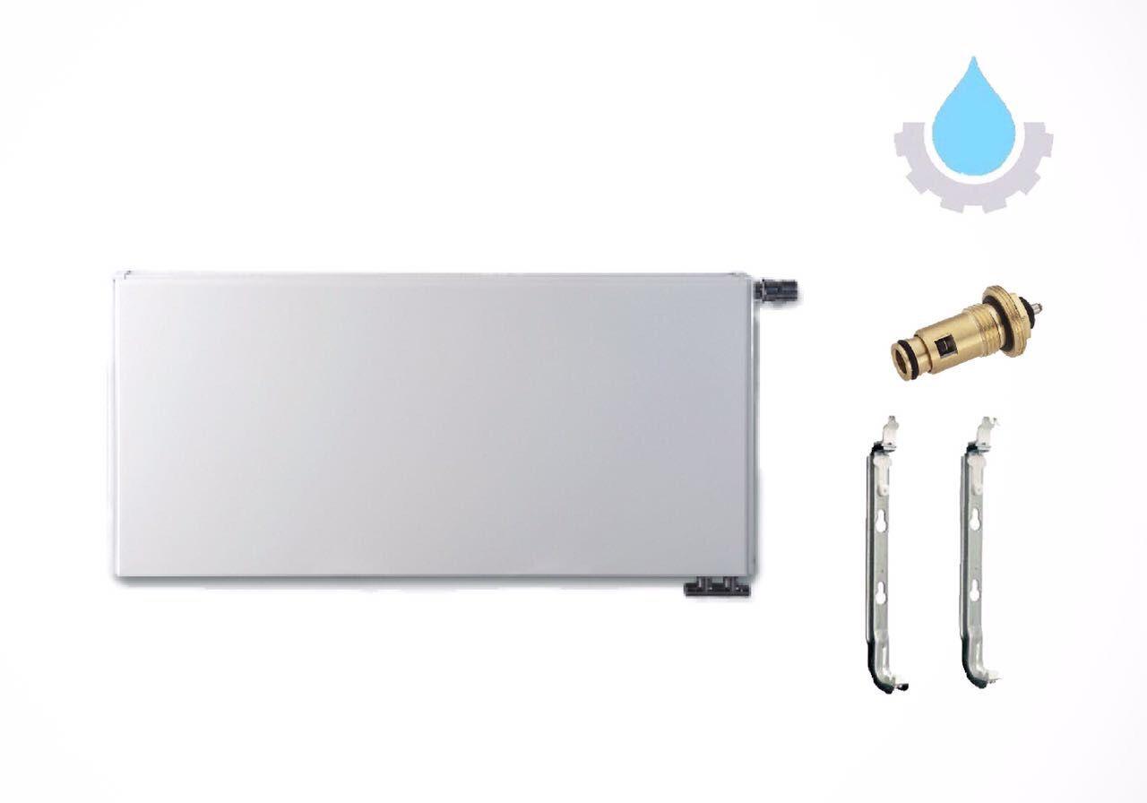 Universalheizkörper Typ 22 Plan Kompakt -/ Ventil Heizung Halterung + Ventil