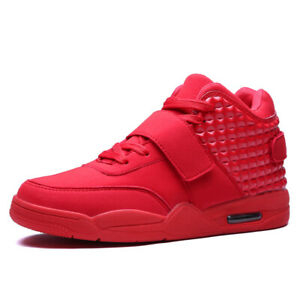 Men-039-s-Air-Cushion-Basketball-Shoes-Boots-High-Top-Sports-Sneakers-Breathable-Gym