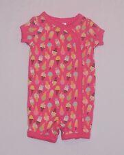 "Gymboree ""Spring Sparkle"" Ice Cream Popsicle Pink Short Gymmie Pajama, 3-6 mos"