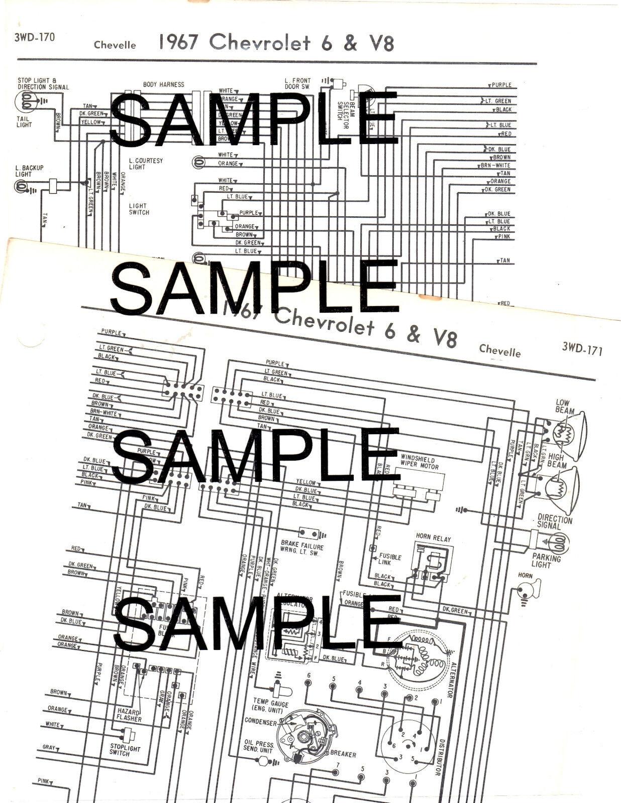 Chevelle 1964 Wiring Diagram 64 Ebay Iid