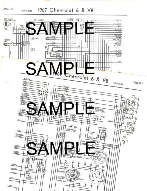 1963 CHEVROLET BISCAYNE BELAIR IMPALA 6 CYL 63 WIRING DIAGRAM CHART | eBayeBay