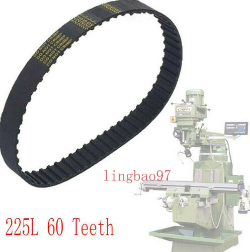 New Milling Machine Part Step Pulley Timing Belt Variable Speed 225L 60 Teeth