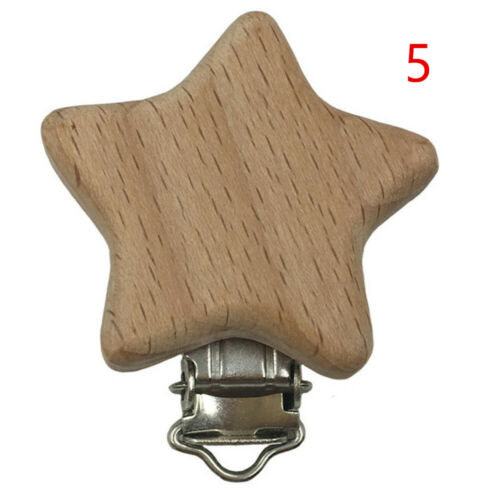 Toddler Infant Pacifier Clip DIY Pacifier Chain  Beech Wood  Dummy Holder