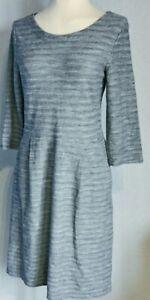 Seasalt Cornwall Women's Dress Blue Size 12 100% Cotton Knit Pockets Nepeta VGC