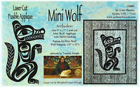 Mini Wolf Laser Cut Quilt Kit Diy Quilting, Appliqué Only, Tommy Joseph
