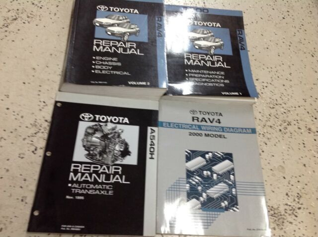 2000 Toyota Rav4 Rav 4 Service Shop Workshop Repair Manual Set Oem W Ewd Trans
