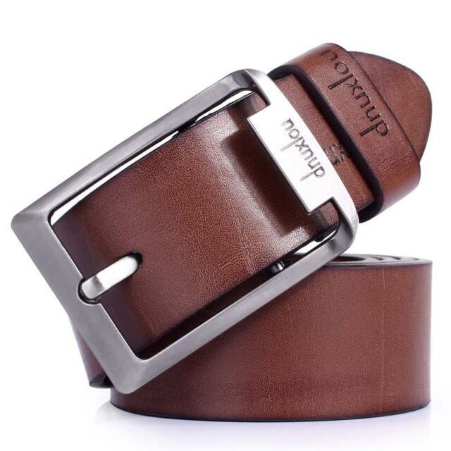 Fashion Men's Black/Brown Casual Pin Buckle Belt Faux Leather Belts Waistband