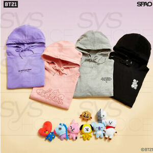 BTS-BT21-Official-Authentic-Goods-Slit-Hoodie-Long-Sleeve-4TYPE-By-SPAO-Track