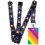 High-quality-ID-badge-holder-RAINBOW-STRIPES-amp-Secure-Lanyard-neck-strap-soft thumbnail 18