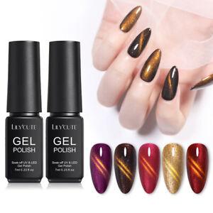 LILYCUTE-7ml-Gold-Light-Cat-Eye-Gellack-Traenken-Magnetic-Nagellack-Nail-Art-Gel
