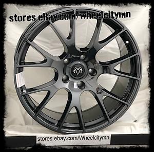 22 Inch Black Chrome Pvd Hellcat Srt Oe Replica Wheels Charger