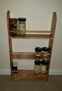 Details About Dovecote Woodworking Curly Big Leaf Maple Spice Rack Mortise And Tenon Craftsman