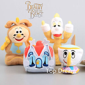 Beauty-and-the-Beast-Chip-Lumiere-Candlestick-COGSWORTH-Clock-Plush-Toy-Doll-NWT