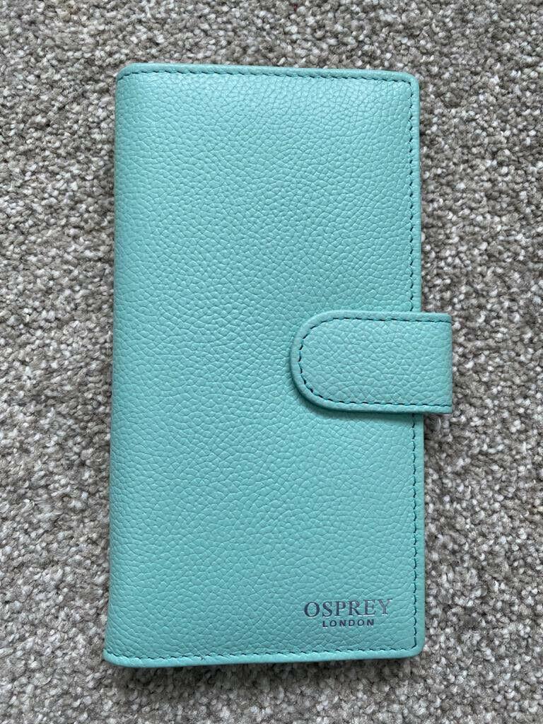 Osprey London Mint Women's GABBIE Popper Bi-Fold Nappa purse RRP