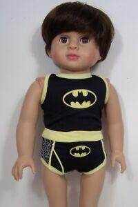 6d232a552 La foto se está cargando BATMAN-Underwear-Shorts-amp-Tee-Doll-Clothes-For-
