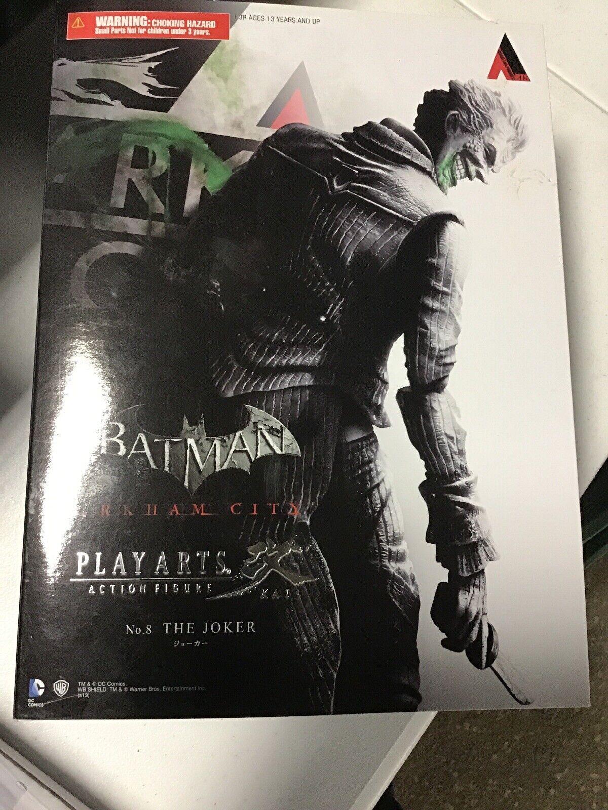 Square Enix BATuomo ARKHAM città JOKER Play Arts Kai cifra di nuovo dal Giappone