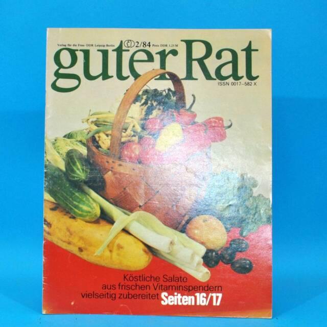 Guter Rat 2-1984 Verlag für die Frau DDR Elasan Klöße Gartenmöbel Sonnenuhr C