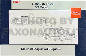 1989 Gmc S15 Pickup And Jimmy Wiring Diagram Manual Electrical Schematic 89 S 15 Ebay