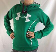 Under Armour Women's Fleece Sweater Hoodie Green Size L