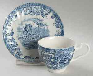 Johnson-Brothers-COACHING-SCENES-BLUE-Demitasse-Cup-amp-Saucer-1194712