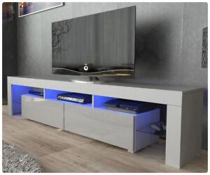 Meuble-TV-Unite-Armoire-Meuble-Television-haute-brillance-Moderne-200cm