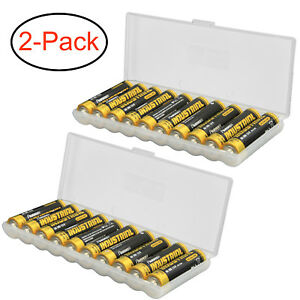 Clear-AAA-Plastic-Battery-Storage-Case-Organizer-Holder-For-10-AAA-batteries-2PK