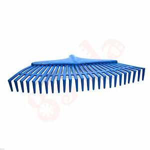 60cm Wide 16 Tooth Heavy Duty Plastic Rake Head Replacement Lawn Leaves Garden