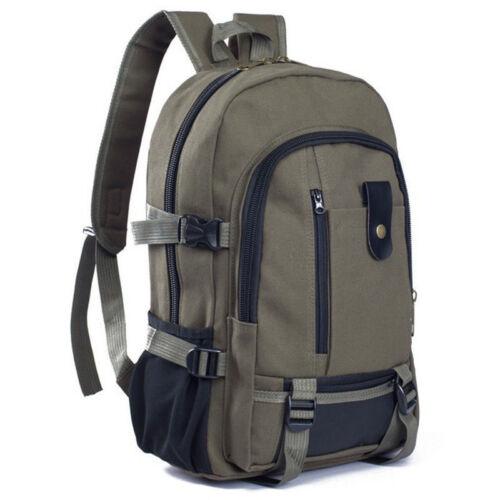 Unisex Mens Canvas Rucksack Bag Camping Travel School Satchel Messenger Backpack