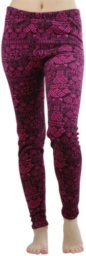 FashionCatch Women/'s Fleece Lined Leggings with Tribal Print Band