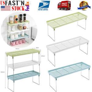 Standing-Rack-Kitchen-Bathroom-Countertop-Storage-Shelf-Seasoning-Spice-Rack-US