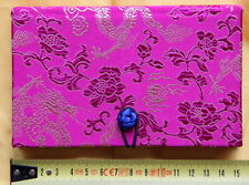 Cahier chinois-Journal Intime-Satin-Chinese Notebook-quaderno cinese-fushia-s