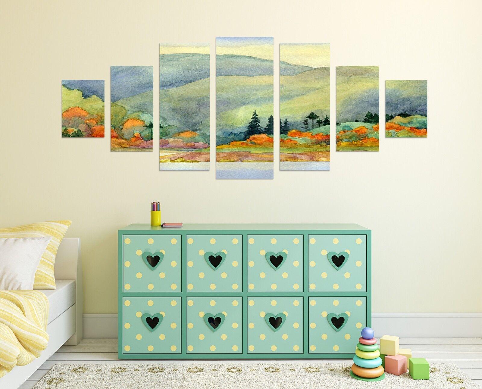 3D Paint Hills Sky 74 Unframed Print Wall Paper Decal Wall Deco Indoor AJ Jenny