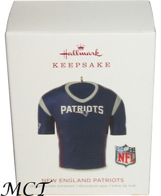 size 40 b662b b236f Hallmark NFL New England Patriots football jersey 2018 Christmas ornament  New 763795386611 | eBay