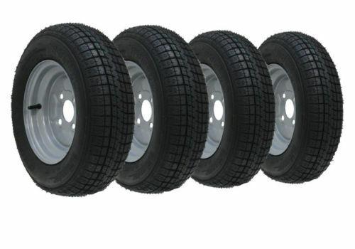 145R10 Anhänger Rad Reifen 10 Radial 430kgs 84 82N 4 Bolzen 100mm Pcd - 4er Set