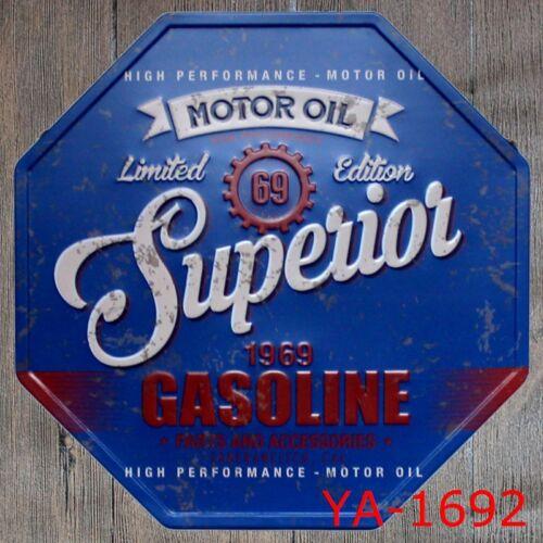 Metal Tin Sign motor oil 1969 gasoline Bar Pub Vintage Retro Poster Cafe ART