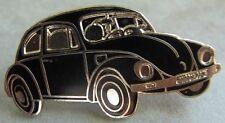 Volkswagen Pin / Pins: VW Käfer - emailliert - Vorderansicht - schwarz