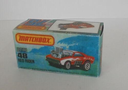 Repro Box Matchbox Superfast Nr.48 Red Rider
