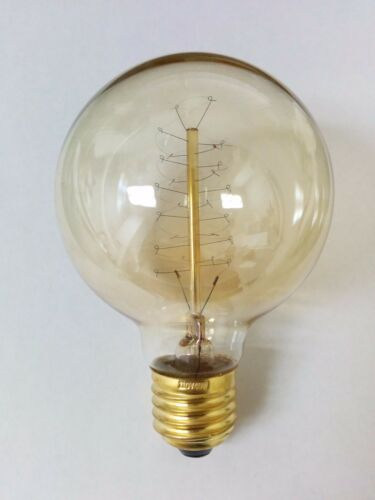 Simple Vintage G80 Edison Light Bulb E26 40W Antique Retro Tinted Globe Spiral