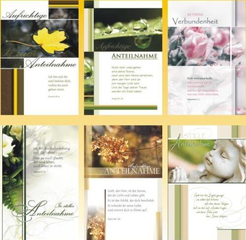 50 Trauerkarten Trauerkarte Trauer Beileidskarten Kondolenzkarten 813100 HI