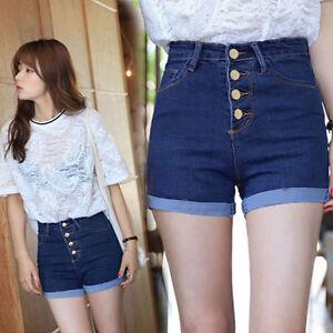 Women Casual High Waist Nightwear Camouflage Short Jeans Pants Denim Slim Shorts