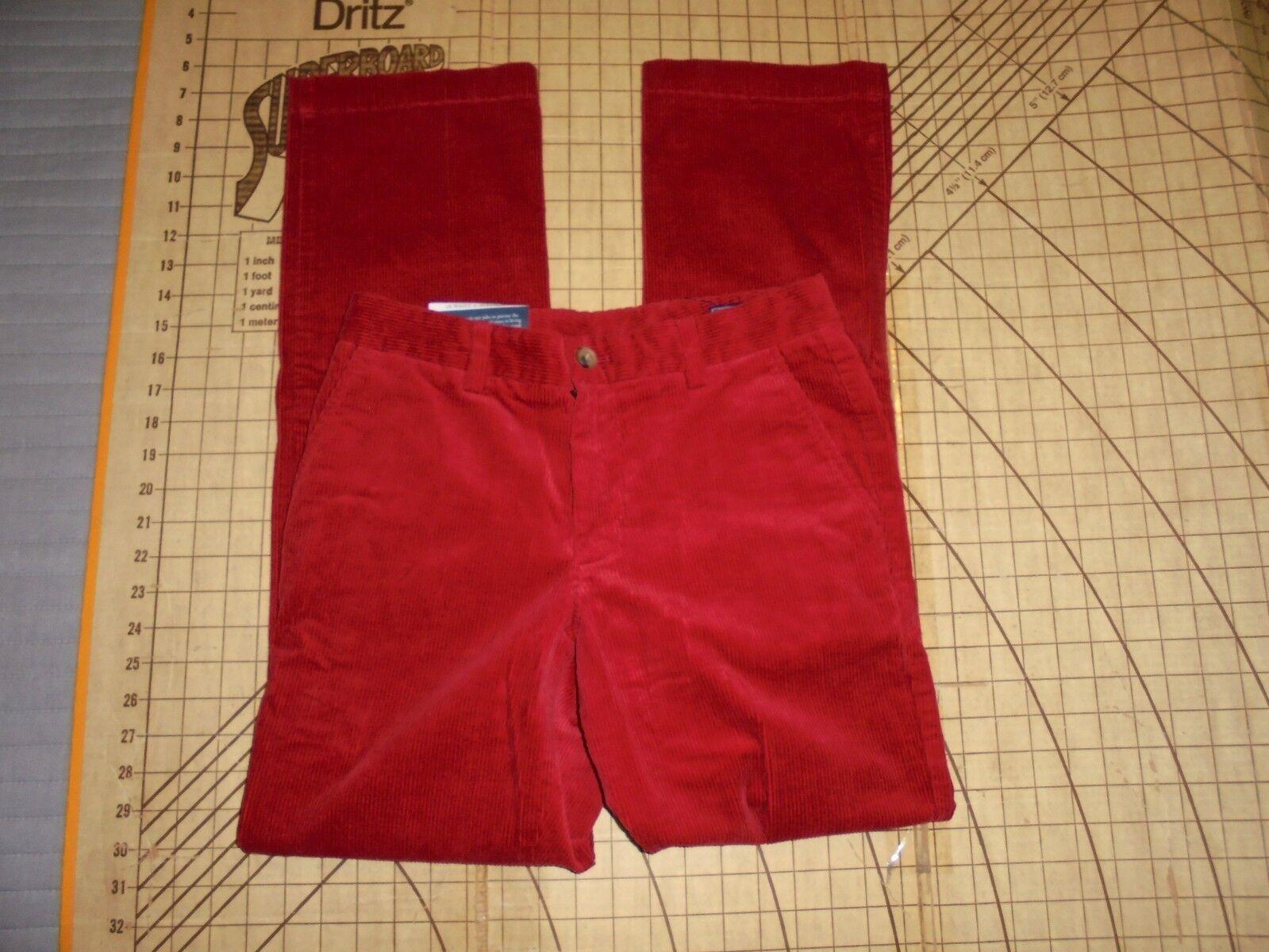 MENS SIZE 28-32 VINEYARD VINES CORDUROY DARK RED SLIM FIT BREAKER PANTS - NWT